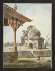 The tomb of Shaikh Ibrahim Chishti (d. 1543) at the Nadan Mahal, Lucknow